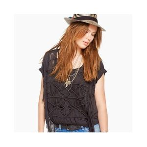 Denim & Supply Ralph Lauren Crochet Fringe Top XS
